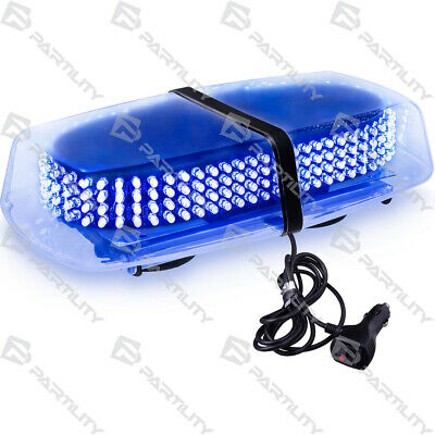 240 Led Blue Light Emergency Warning Strobe Flash Traffic Magnetic Roof Advisor