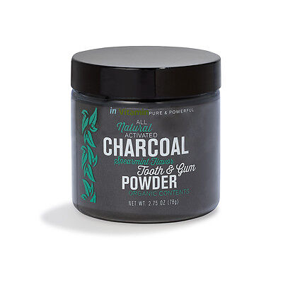 Natural Whitening Tooth & Gum Powder w/Activated Charcoal (2.75oz) - Spearmint