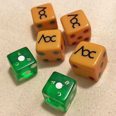 Collectable Dice from the World Amateur Backgammon Championship—Vintage