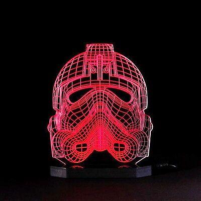 Rebel Pilot Helmet Lamp Star Wars Black Series Led Light  X-Wing Starfighter 3d  (Rebel Pilot Helmet)