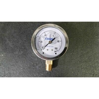 Christys Tg.lf.100.25 Liquid Filled Pressure Gauge 0-100psi 2-12in