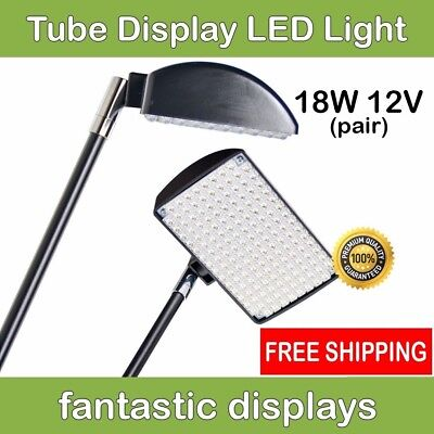 LED Light Spotlight for TUBE Pop Up Tradeshow Displays BRIGHT 18W - 2 LIGHTS