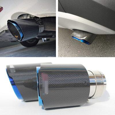 "In 3 ""Out 4,5"" Auto-Auspuffspitzen-Rohrschalldämpfer aus echtem Carbon+Edelstahl"