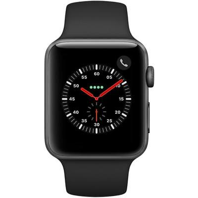 Apple Watch Series 3 - 42mm - Space Gray Aluminium Case - Black Sport Band (GPS)