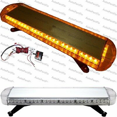 30 in 56-LED Amber Emergency Warning Truck Strobe Light Tow Roof Bolt Bar Yellow Led Emergency Vehicle Lights