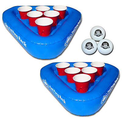 Swimming Pool Inflatable Beer Pong Game / ...