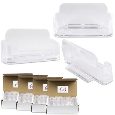 48pcs Clear Acrylic Business Card Holder Display Stand Desktop Countertop