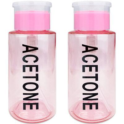 Kappe Gekennzeichnet (Pana 7oz Aceton Gekennzeichnet Pumpspender Flasche mit Flip Top Kappe Rosa)