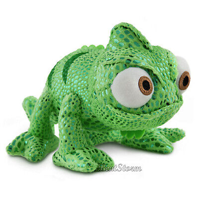 Disney Store Tangled Rapunzel PASCAL Green Chameleon Bean Bag Plush Toy Doll