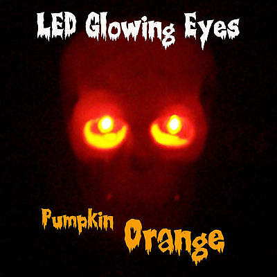 Led Glowing Eyes Halloween Orange 5mm 9volt Wide Angle