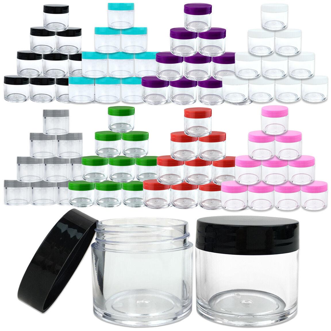 12 High Quality 1oz/30g/30ml Acrylic Plastic Jars Sample Con