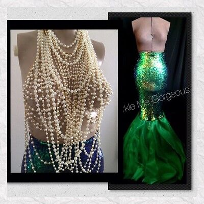 Sexy Pearl Mermaid Costume Halloween - S M L XL Made By ORIGINAL Designer USA