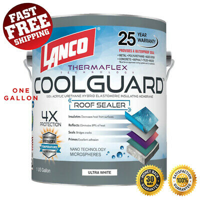 Roof Coating Heat Reflective Waterproof Paint Rubber Rv Home Protector Sealer