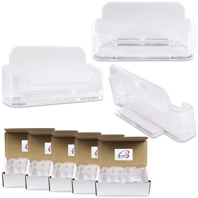 60pcs Clear Acrylic Business Card Holder Display Stand Desktop Countertop