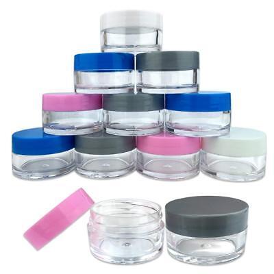 Clear Plastic Jars With Lids (12 PCS 20G/20ML Round Clear Plastic Cosmetic Refill Jars with Mix Color)