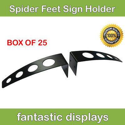 Heavy Duty Adjustable Sign Board Display Holder Wide Based Stand - Box Of 25