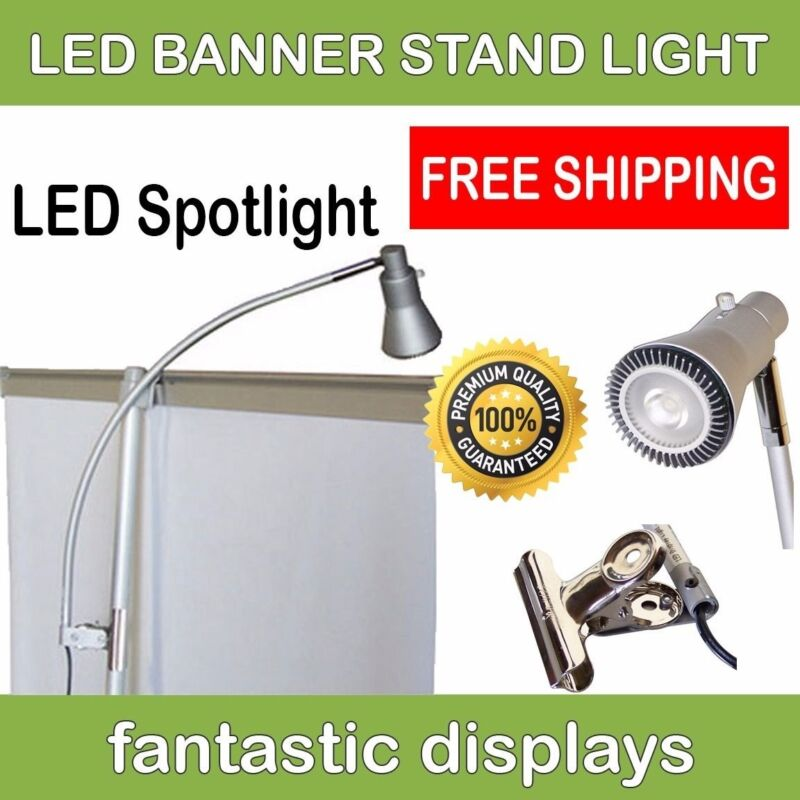 LED Banner Stand Light - Spotlight for Banner Stands