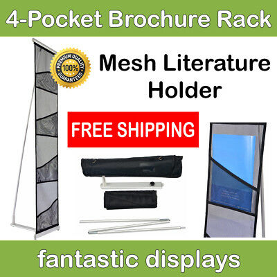 4-pocket Literature Rack And Brochure Holder For Trade Show Booths