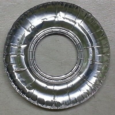 40 Aluminum Foil Round Gas Burner Disposable Bib Liners Stove Covers WHOLESALE