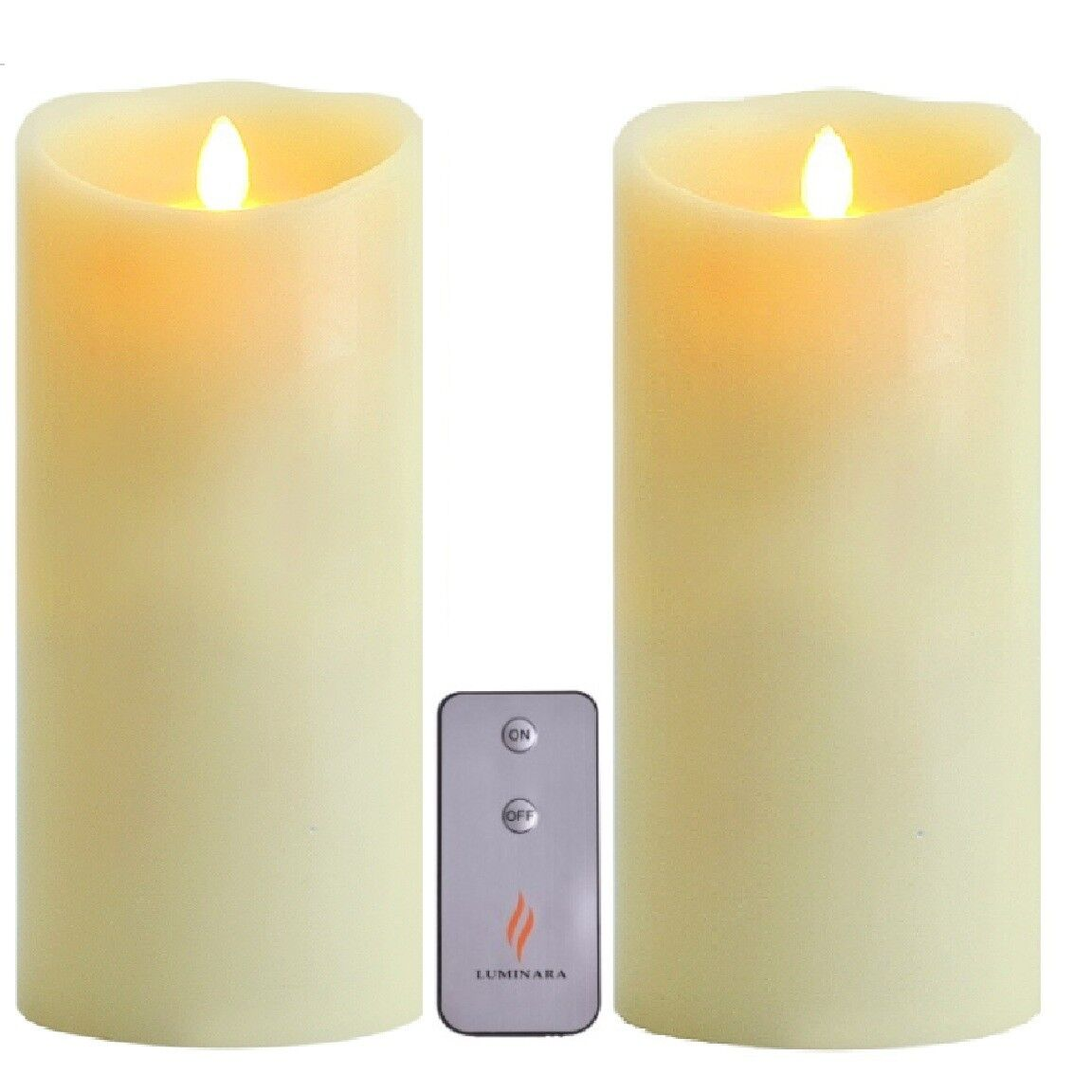 "LUMINARA 9/"" LED CANDLE Ivory Wax Light Flicker Scented Candle **FREE DELIVERY*"
