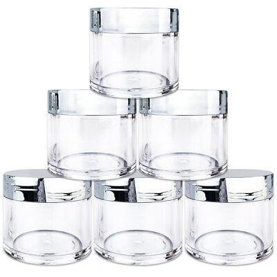 Clear Plastic Jars With Lids (Beauticom® (6 PCS) 30G/30ML High Quality Clear Plastic Jars with Silver)