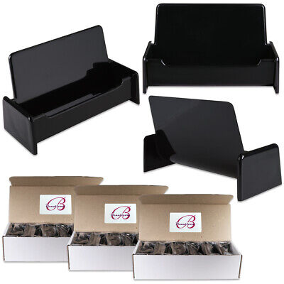 36pcs Black Color Plastic Business Card Holder Display Stand Desktop Countertop