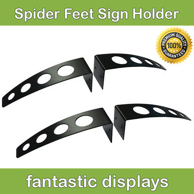 Heavy Duty Adjustable Sign Board Display Holder Wide Based Stand 2 Pack