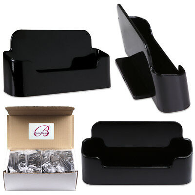 12pcs Black Acrylic Business Card Holder Display Stand Desktop -