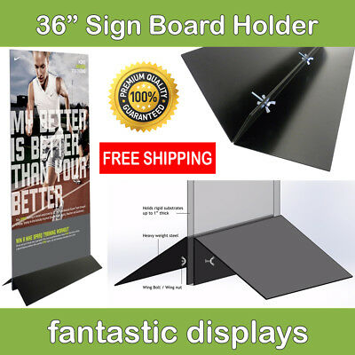 36 Wide Sign Board Display Holder For Foamcore And Other Business Signs