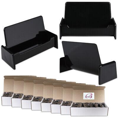 100pcs Black Color Plastic Business Card Holder Display Stand Desktop Countertop