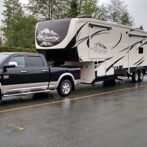 36.5 foot Fifth wheel and 1 ton truck