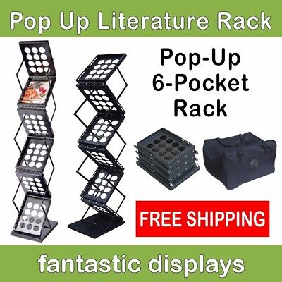 Pop Up Literature Display Stand Or Brochure Rack For Magazines Catalogs Etc.