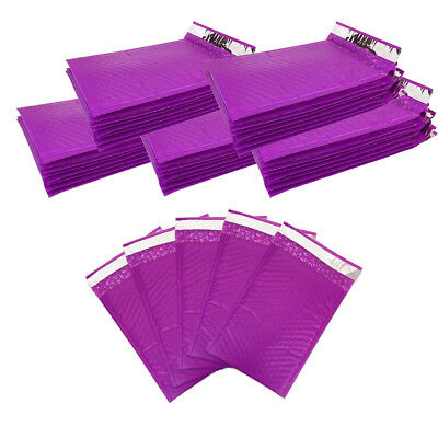 30pcs Beauticom Lightweight Purple 6x9 Self-seal Poly Bubble Mailer Envelopes