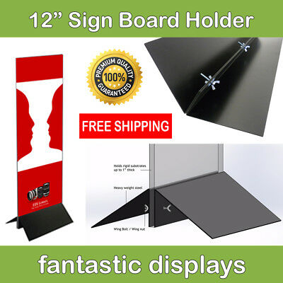 12 Wide Sign Board Display Holder For Foamcore And Other Business Signs 2-pack