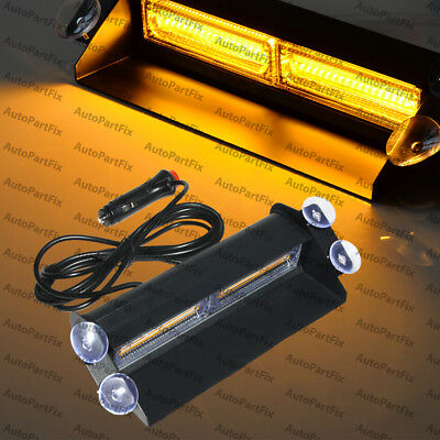 Cob Amber Yellow Light Emergency Car Vehicle Warn Strobe Flash Brighter Than Led