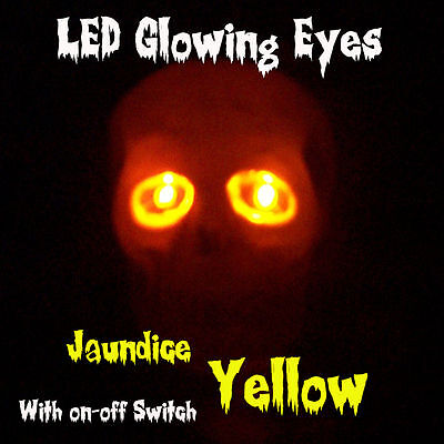 Led Glowing Eyes Halloween Yellow 5mm 9v Onoff Switch