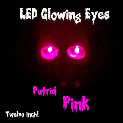 Led Glowing Eyes Halloween Pink 5mm 9 Volt Wide Angle 9v 12