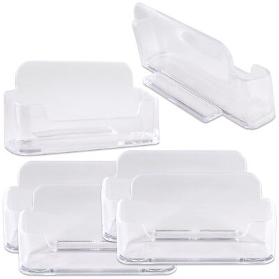 6pcs Clear Acrylic Business Card Holder Display Stand Desktop Countertop