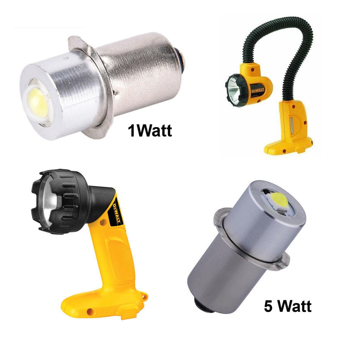 18V LED Replacement Bulb for Dewalt DW908, DW919 P13.5S Size