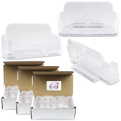 36pcs Clear Acrylic Business Card Holder Display Stand Desktop Countertop