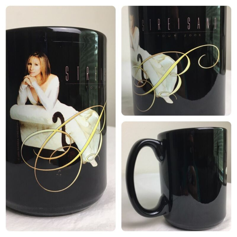 "Vintage Barbra Streisand Rare Collectible Mug 5"" from 2006 EUC"