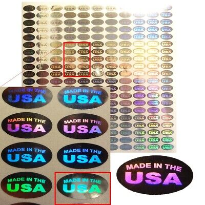 Made In The Usa Hologram Tamper Proof Stickers Labels - Oval Avr018