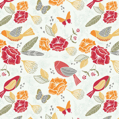 Fly Birds  Main  Cotton Fabric Sweet Bee By the Yard  BFab