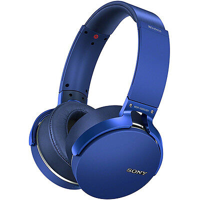 Sony XB950B1 Extra Bass Wireless Headphones with App Control, Blue (2017 model)