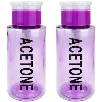 Kappe Gekennzeichnet (Pana 7oz Aceton Gekennzeichnet Pumpspender Flasche mit Flip Top Kappe Lila)
