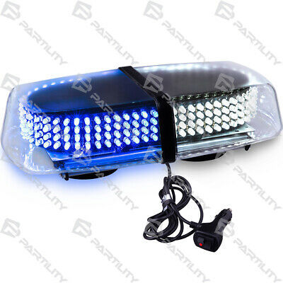 240 Led White Blue Light Emergency Warn Strobe Flash Traffic Magnet Roof Advisor