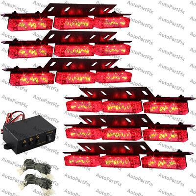 54 Led Red Emergency Warning Strobe Hazard Lights Bars Deck Dash Grill