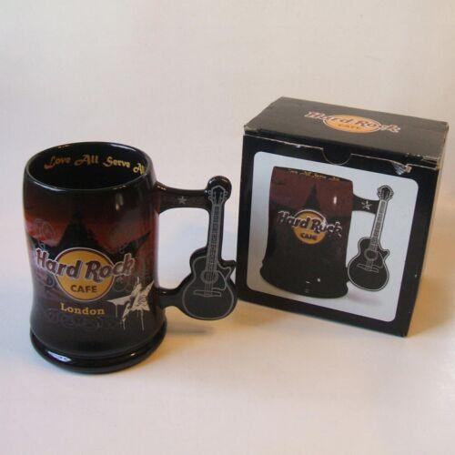 Hard Rock Cafe London Ceramic Mug with Guitar Handle in Box