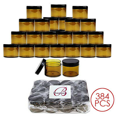 384PCS 2 Oz 60 Gram 60 ml High Quality Acrylic Amber Leak Proof Container Jars