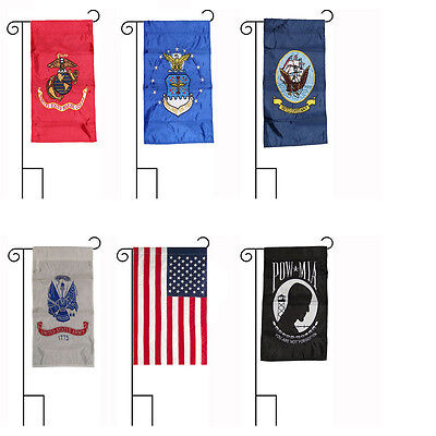 12x18 Embroidered 4 Branch USA Military POW Sleeved Garden Stands 12